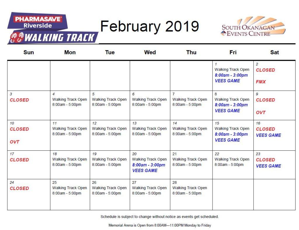 February 2019 Riverside pharmasave Walking Track